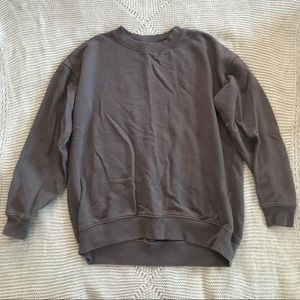 "Aerie Comfy Grey Loose-Fit ""Downtown"" Sweatshirt"